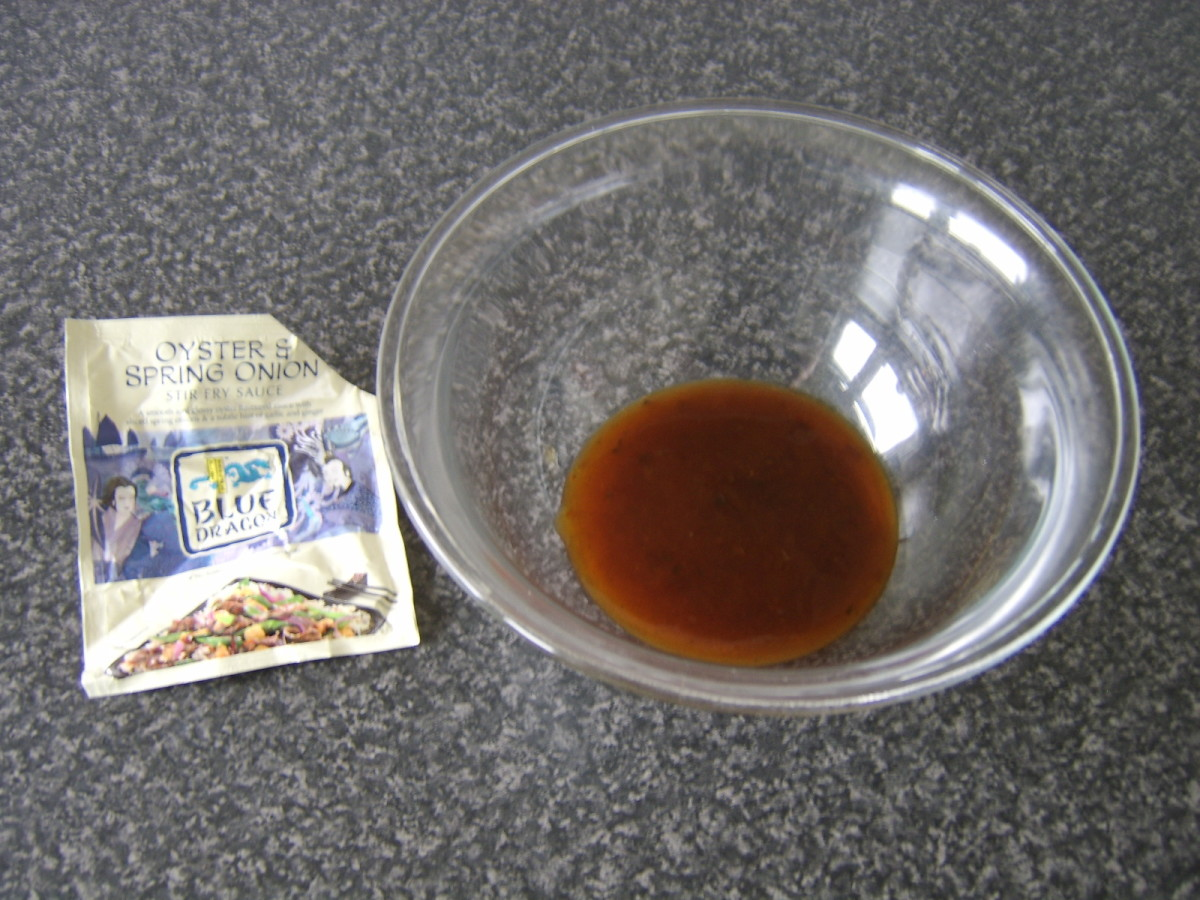 Oyster and Spring Onion (Scallion) Stir Fry Sauce