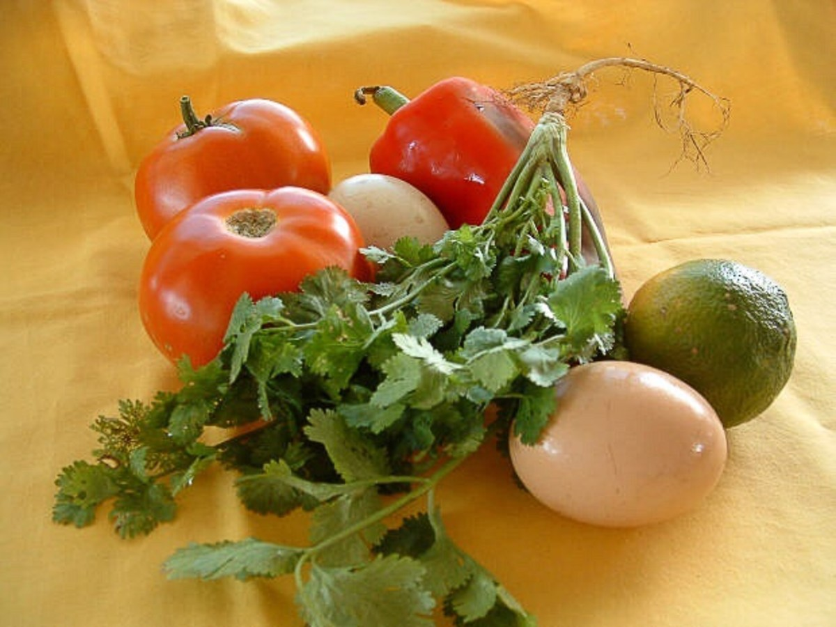 Produce and eggs fresh from the farm
