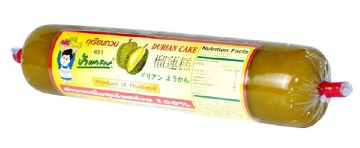 Authentic traditional durian cake