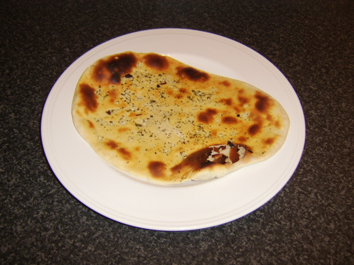 Homemade Garlic and Herb Naan