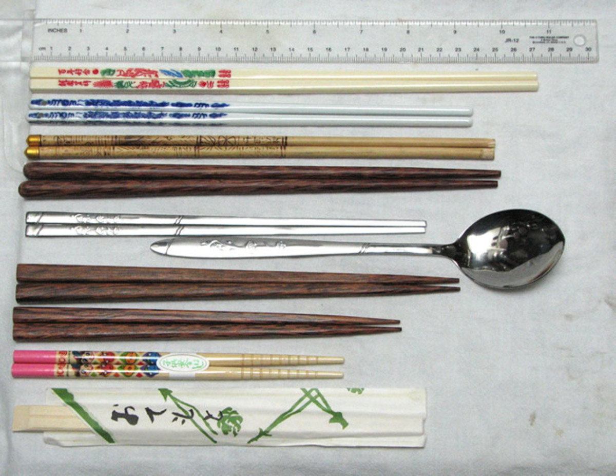 chopsticks from Korea, Japan, China