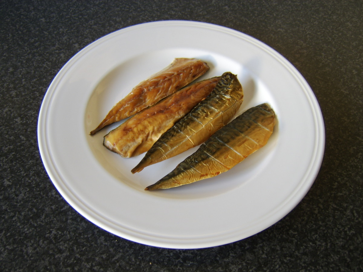 Smoked mackerel fillets are bought ready to eat
