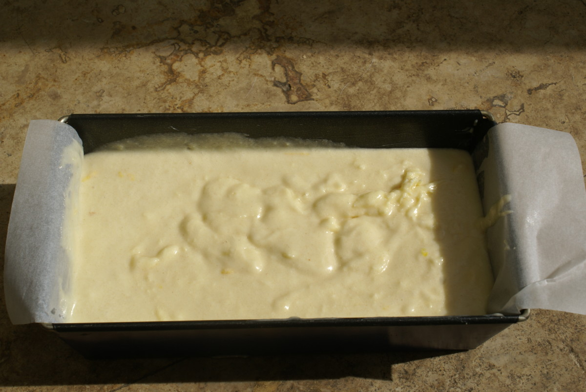 Use parchment paper to make taking the cake out easier after baking.