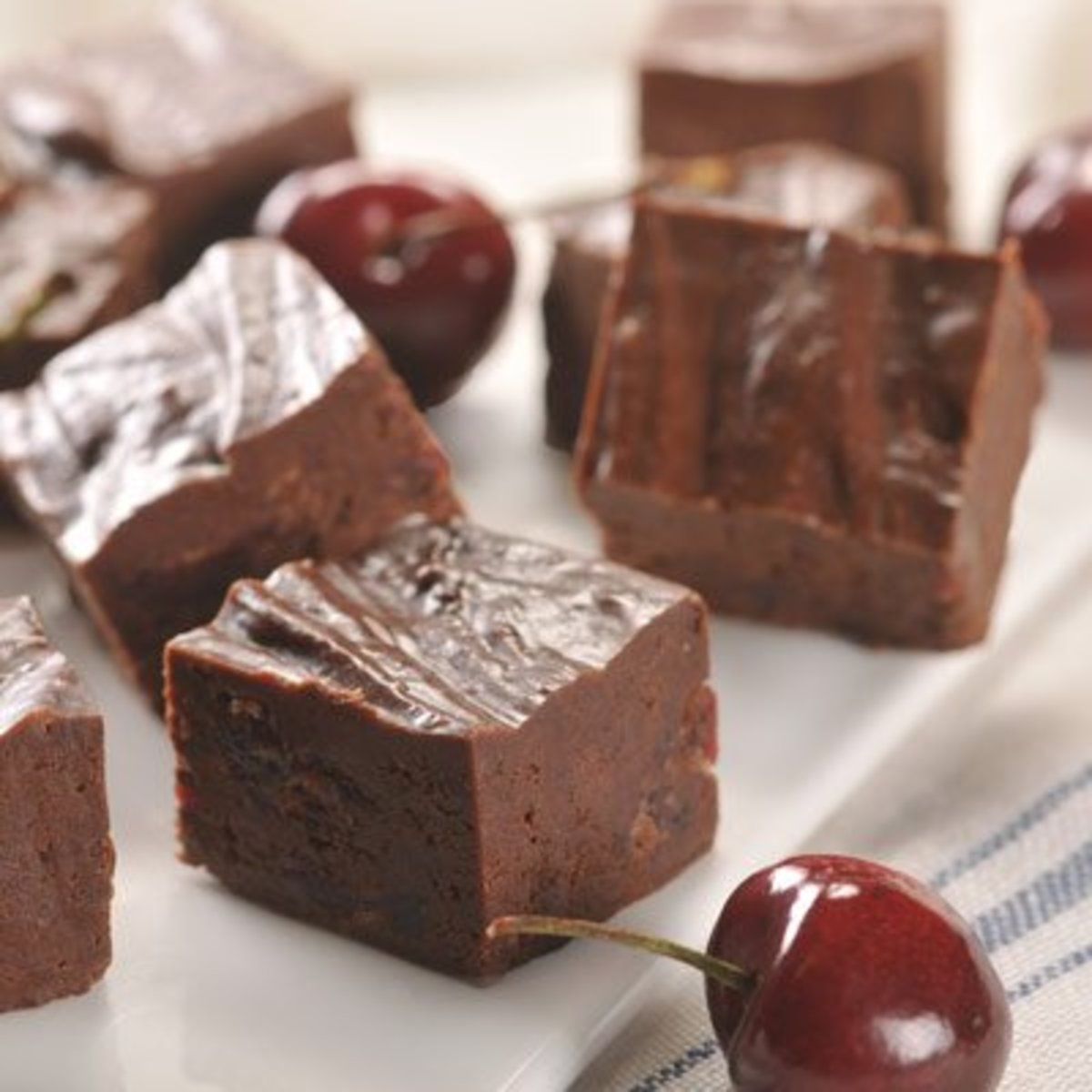Chocolate-Covered Cherry Fudge
