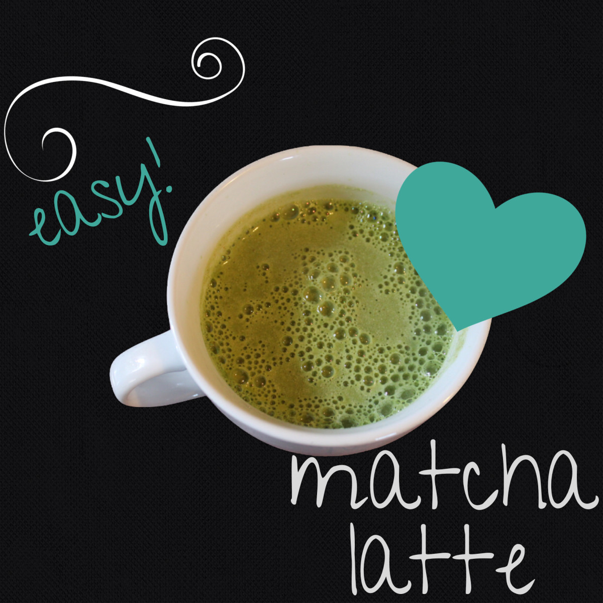 All you need is matcha, water, milk and sweetener - then just whip it!