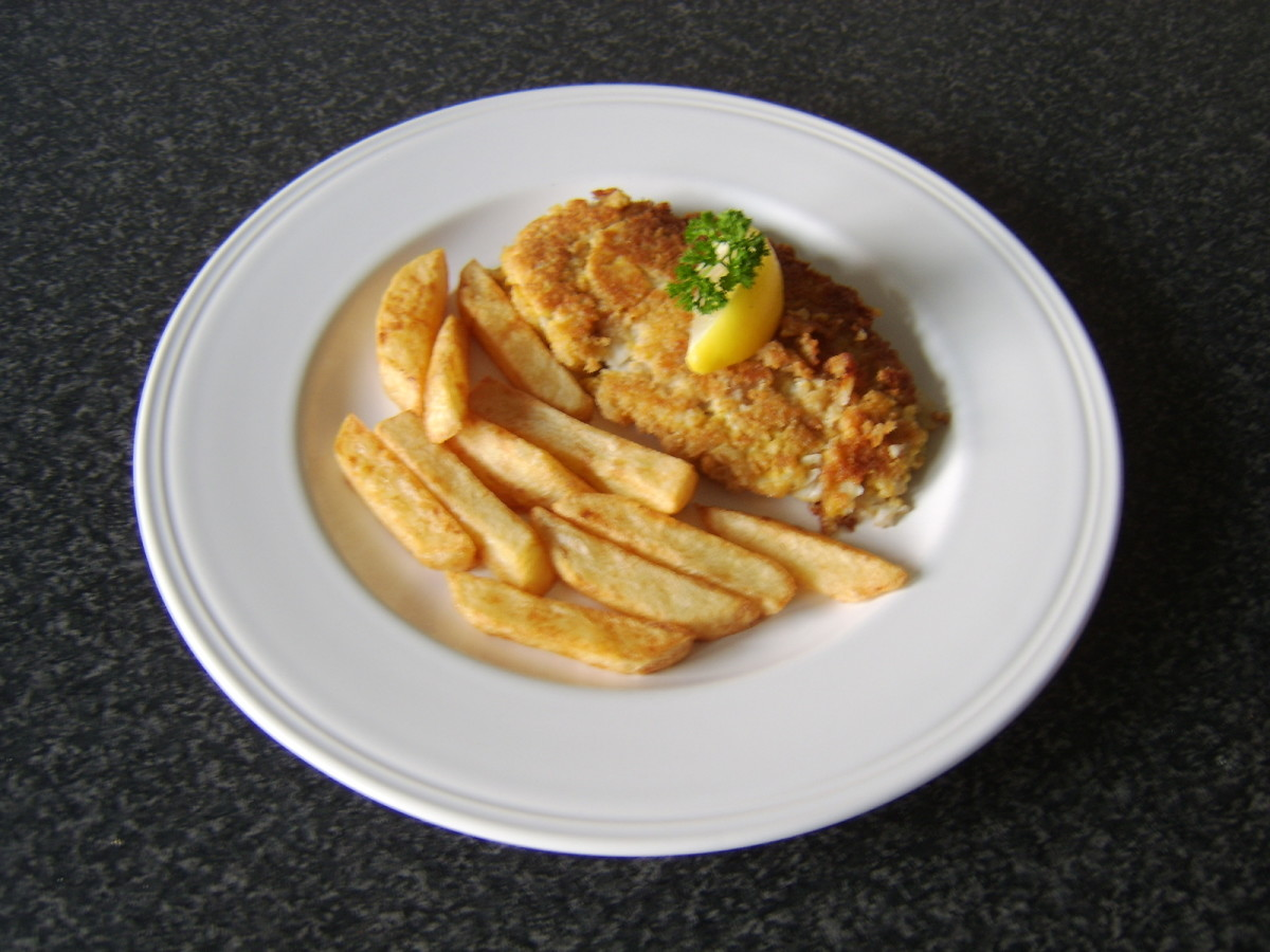 Fish and chips made with whiting