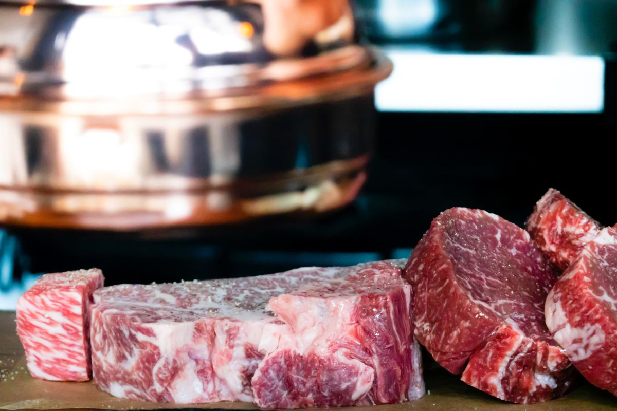 Any meat such as beef, venison, elk or even poultry will work great with this recipe.