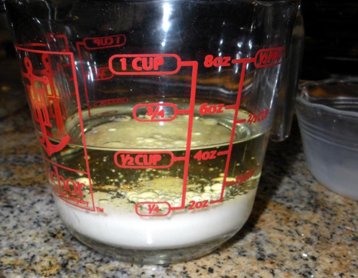2. Don't stir the oil and milk--just dump the milk into the oil and leave it this way