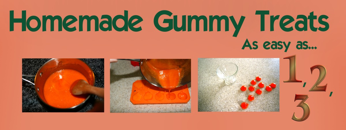 Making gummy candy at home is simple, and fun to do with children.
