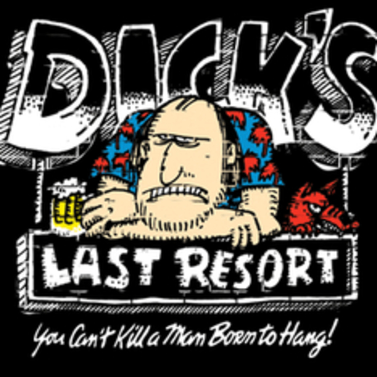 The logo for Dick's Last Resort.