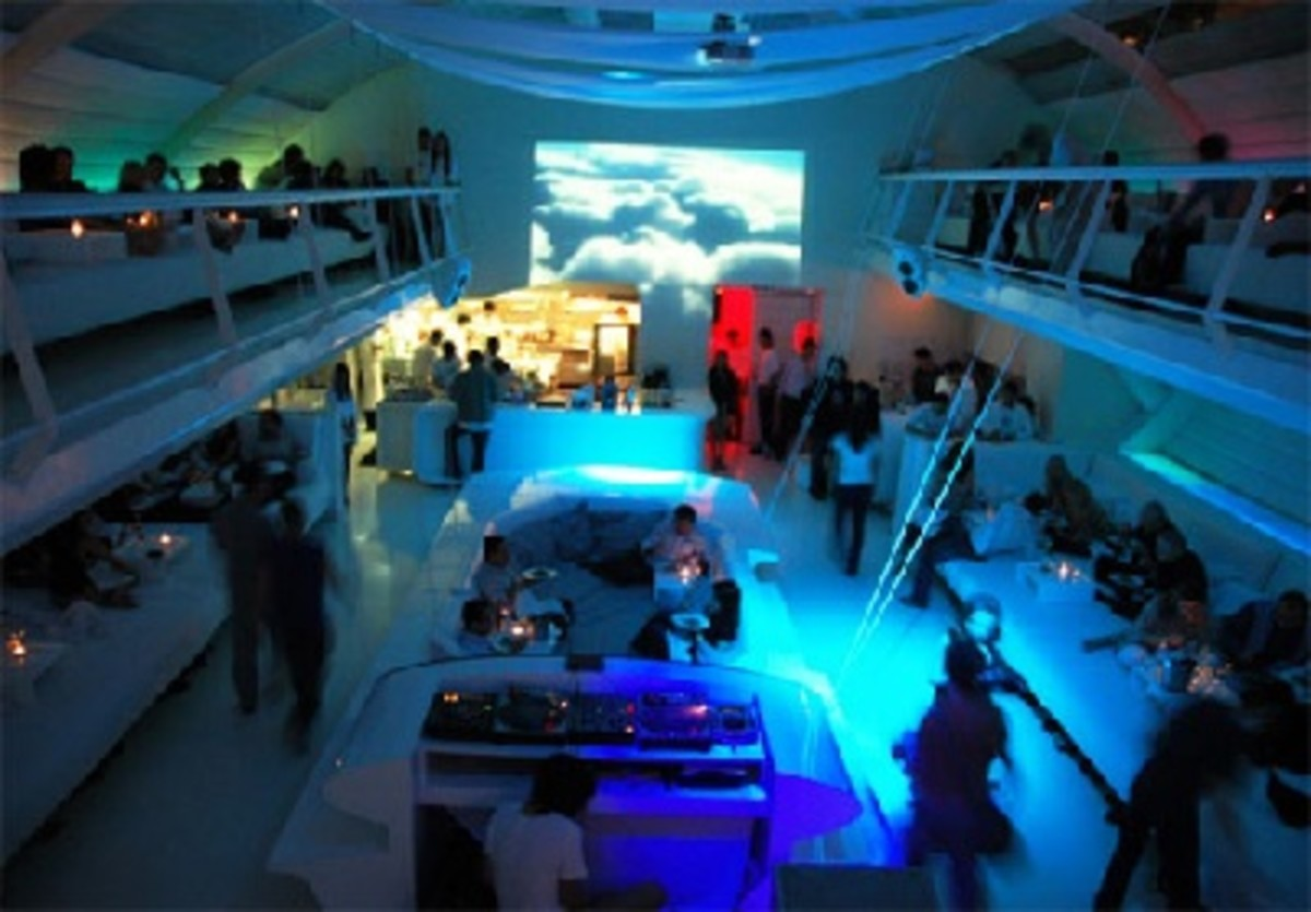 The interior of Supperclub.