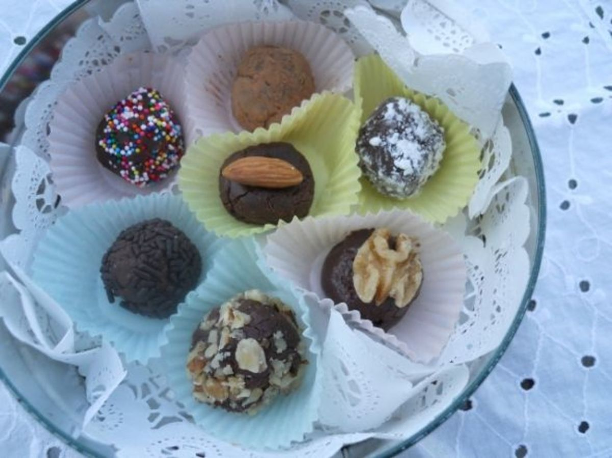 Dark Chocolate Truffles In A Tin For Gift Giving