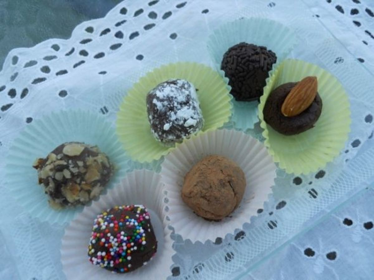 Decorated Dark Chocolate Truffles
