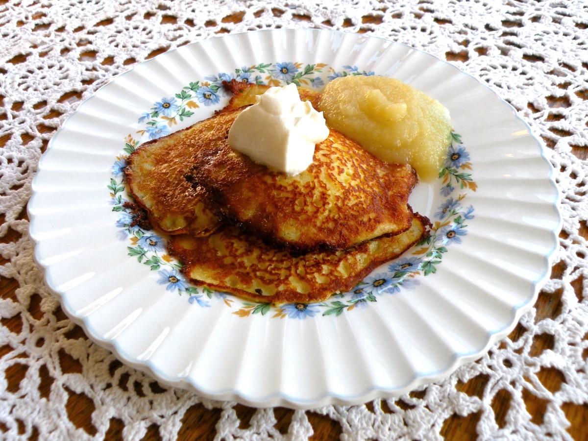 Mmmm...crispy edged potato pancakes for supper tonight!