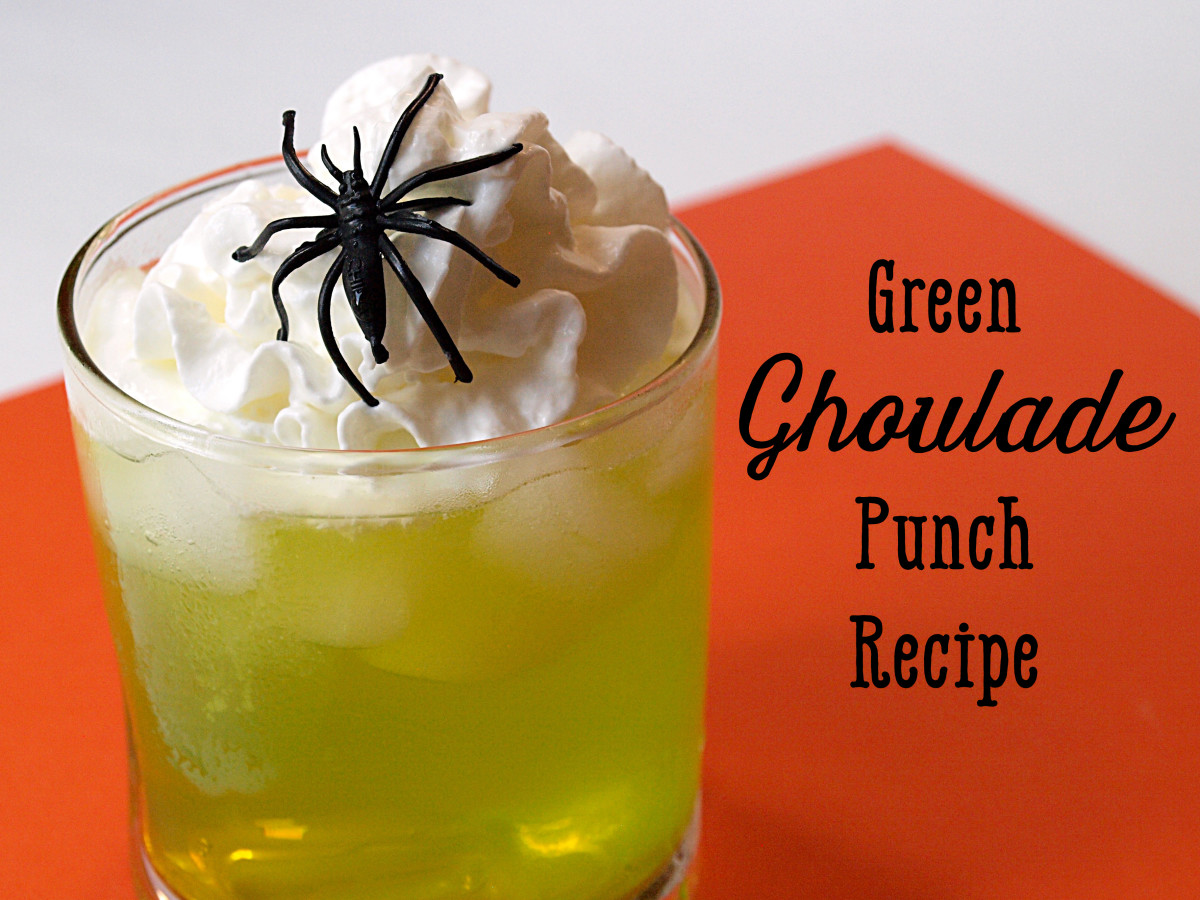 Green Ghoulade is Gatorade with lemonade concentrate, Sprite, and whipped cream—all things the kids are sure to enjoy.