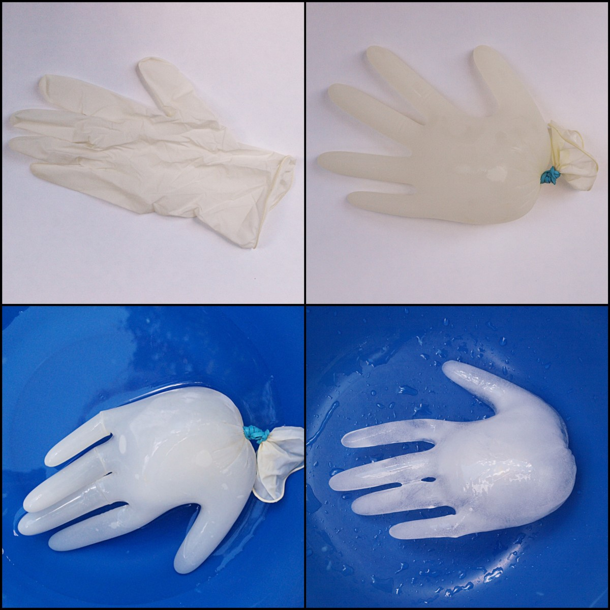 Steps for making a frozen severed hand to float in your punch.