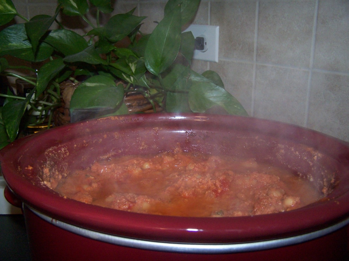 Enjoy a nice hot meal of turkey chili.