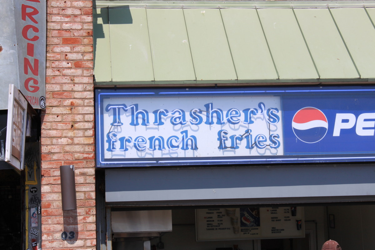 Thrasher's Fries on the boardwalk in Ocean City MD