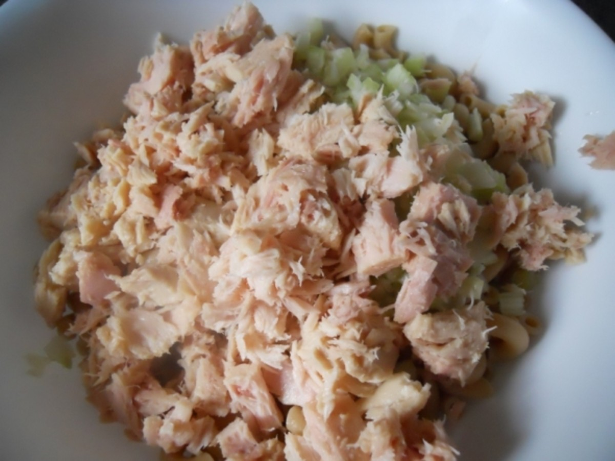 Add flaked tuna