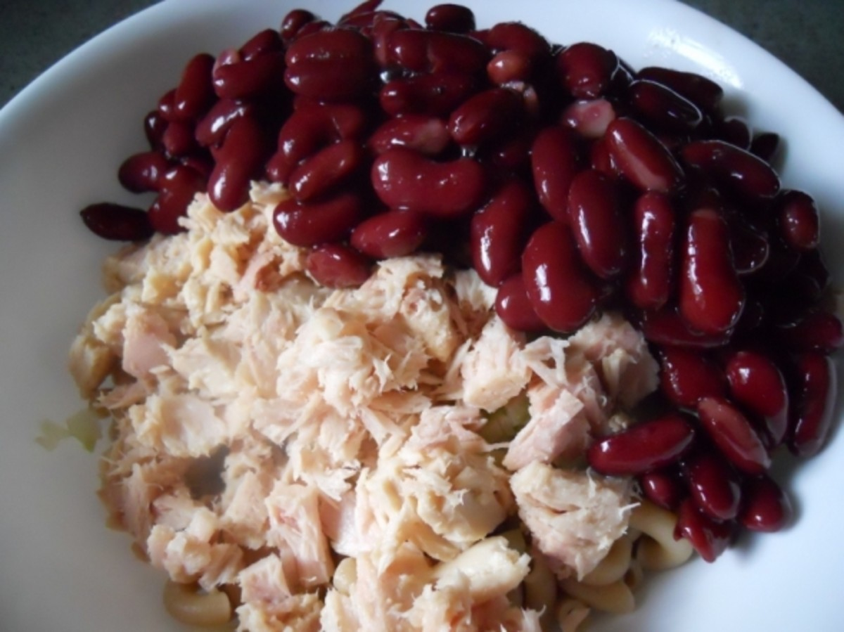 Add drained kidney beans.