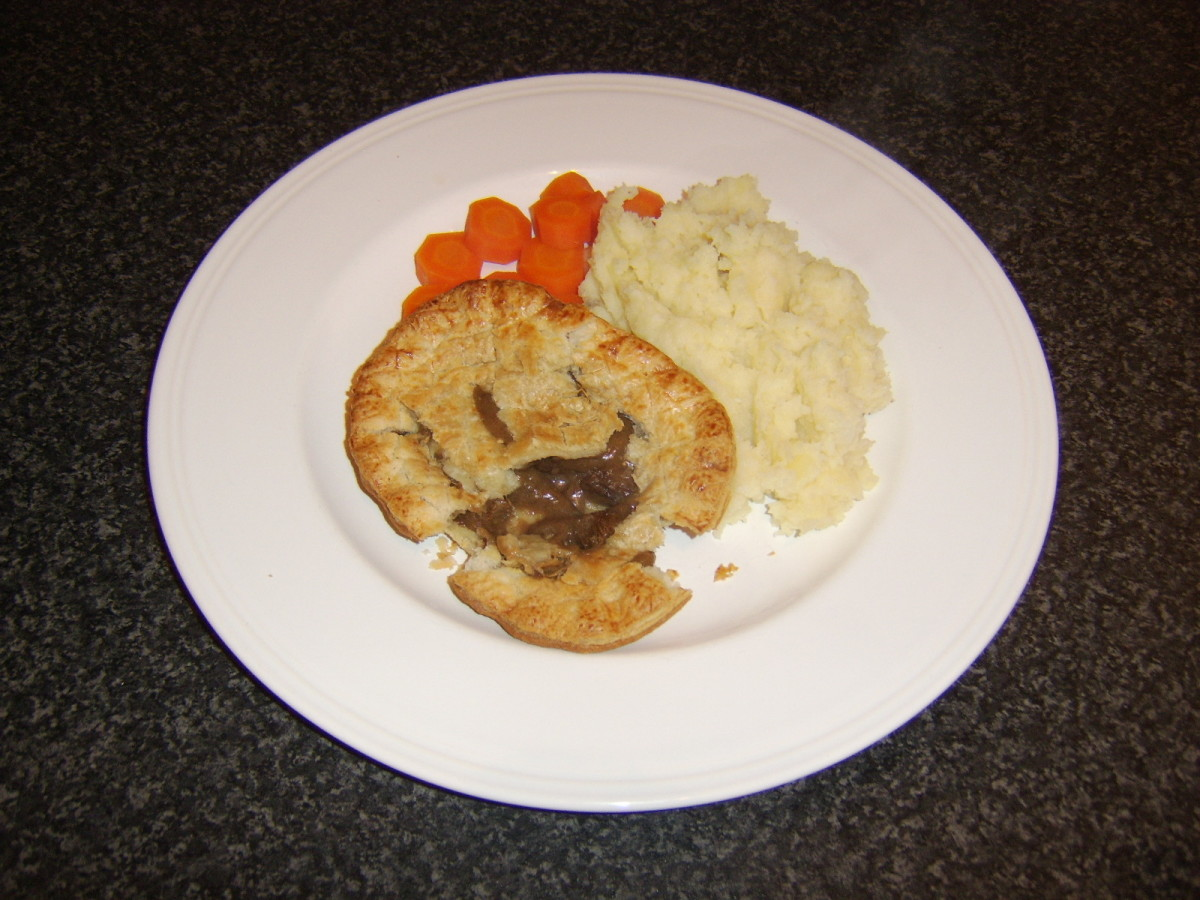 Pie and mash is spiced up a little by the addition of parsnip to the mashed potato