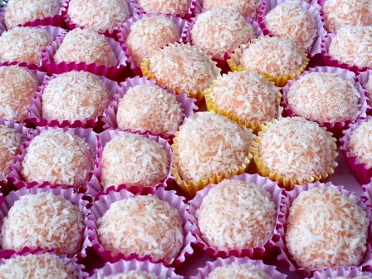 Sweet Treats Topped With Shredded Coconut