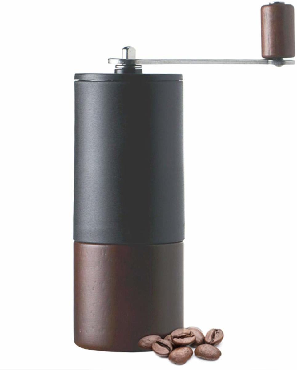 Beautiful Juglans Nigra grinder with stainless steel burr.