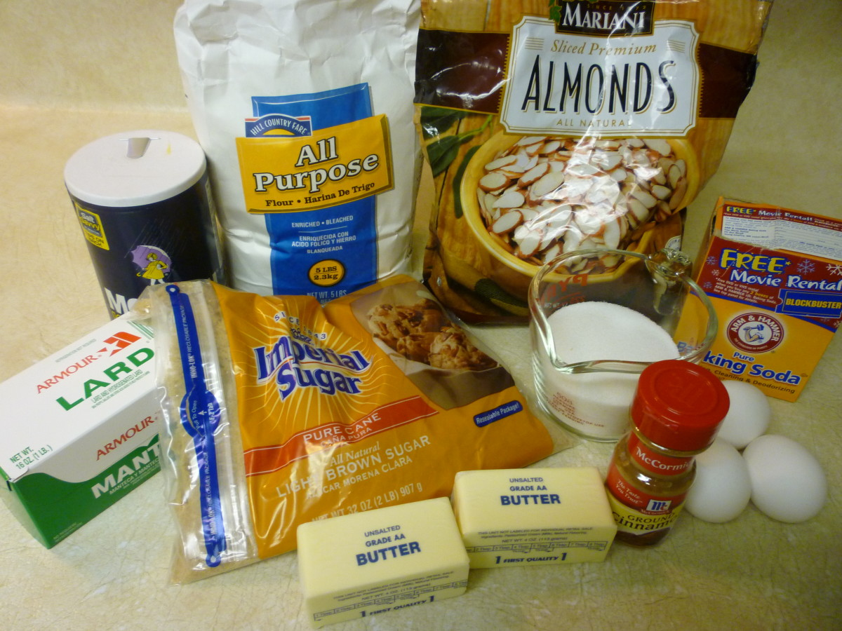 Ingredients for ice box cookies
