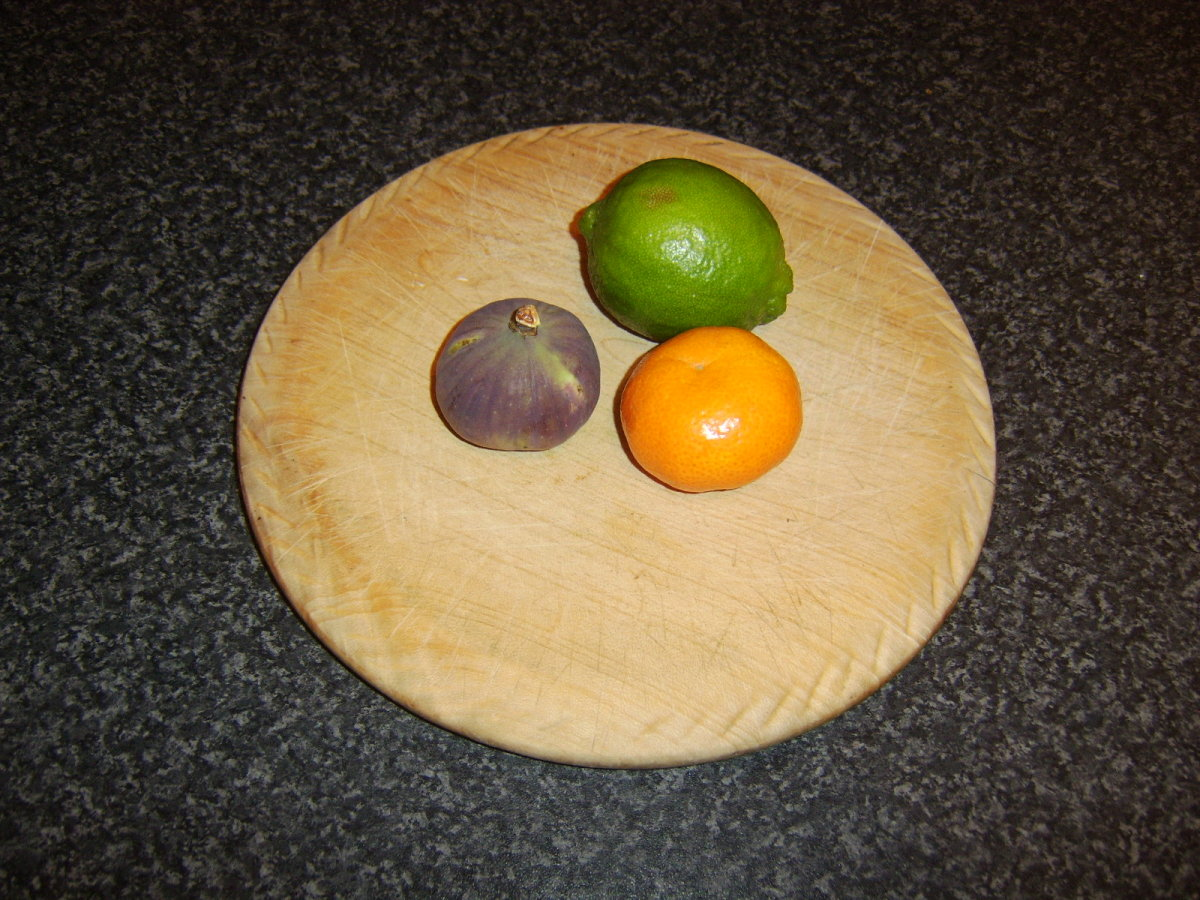 Fig, lime and clementine form the fruit ingredients