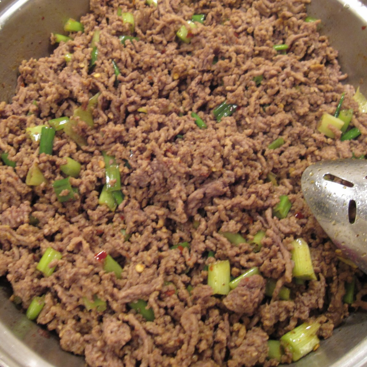Ground Beef with Scallions