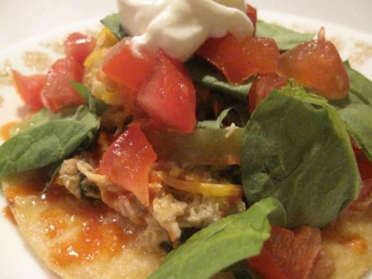 Do you have leftover chicken? Make chalupas!