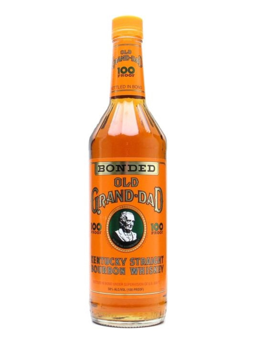 Old Grand-Dad 100 proof. This old bourbon is one of America's most popular. It has a hot first hit, but a subtle finish of vanilla and spices. The brand was created by  Raymond B. Hayden and refers to his grand-dad, a famous distiller of his time.