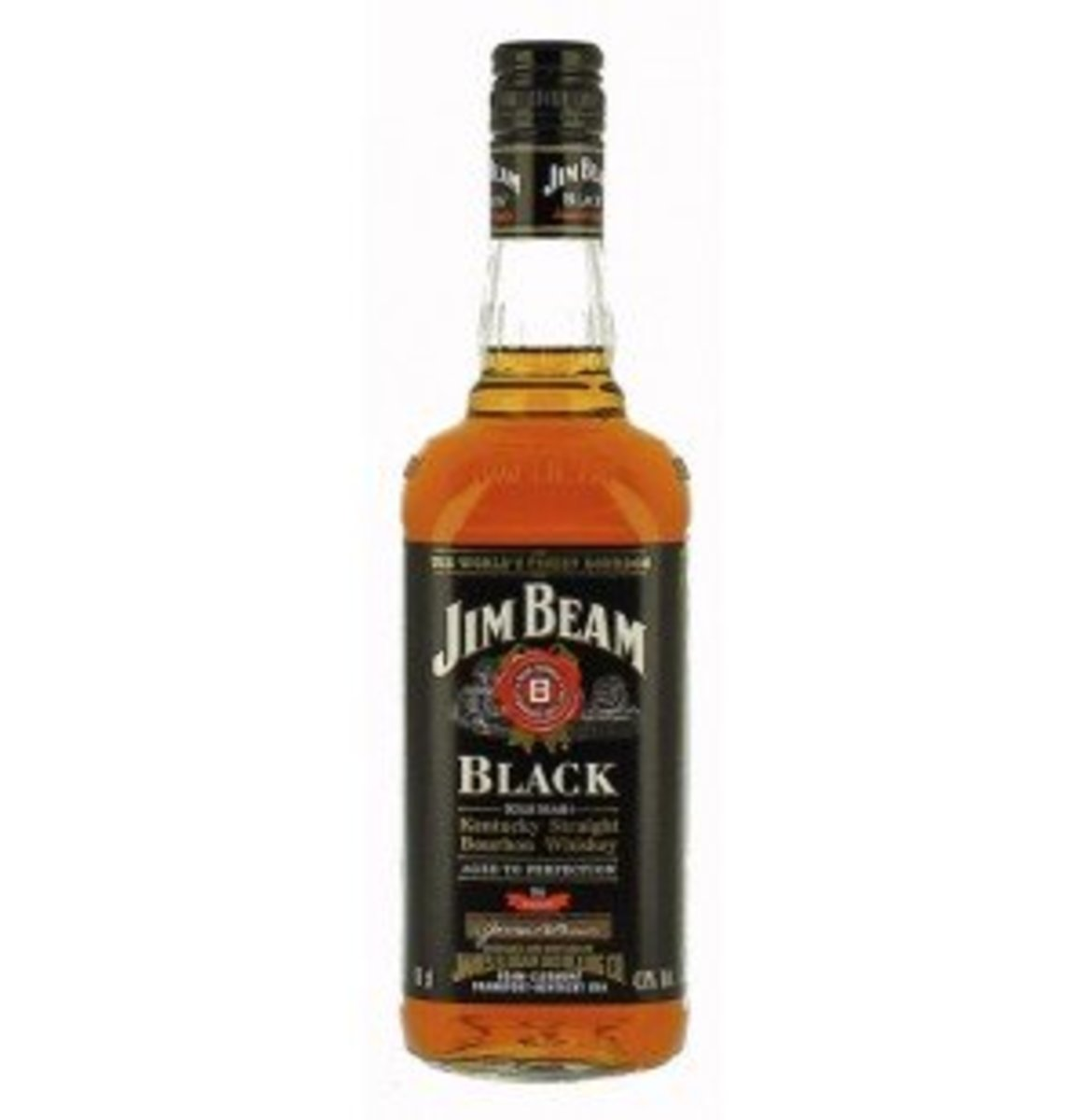 Jim Beam Black Label. A much more subtle and complex whiskey than the White Label, thanks to a large degree to 8 years of aging. Jim Beam is the world's biggest selling bourbon and a great introduction to bourbon drinking.