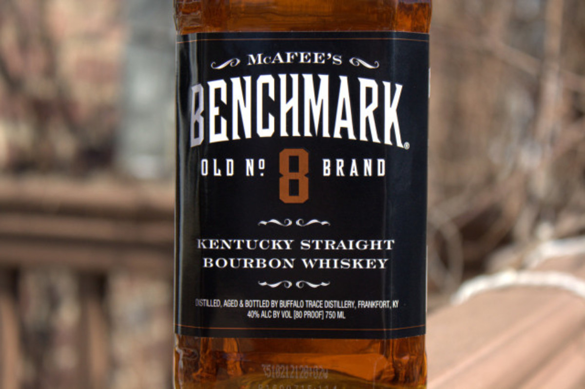 Benchmark No.8 was originally created by Seagram's back in the 1960's as a luxury bourbon. Sazerac bought the brand name in 1992 and now markets the whiskey as a cheaper alternative to Jack Daniel's.