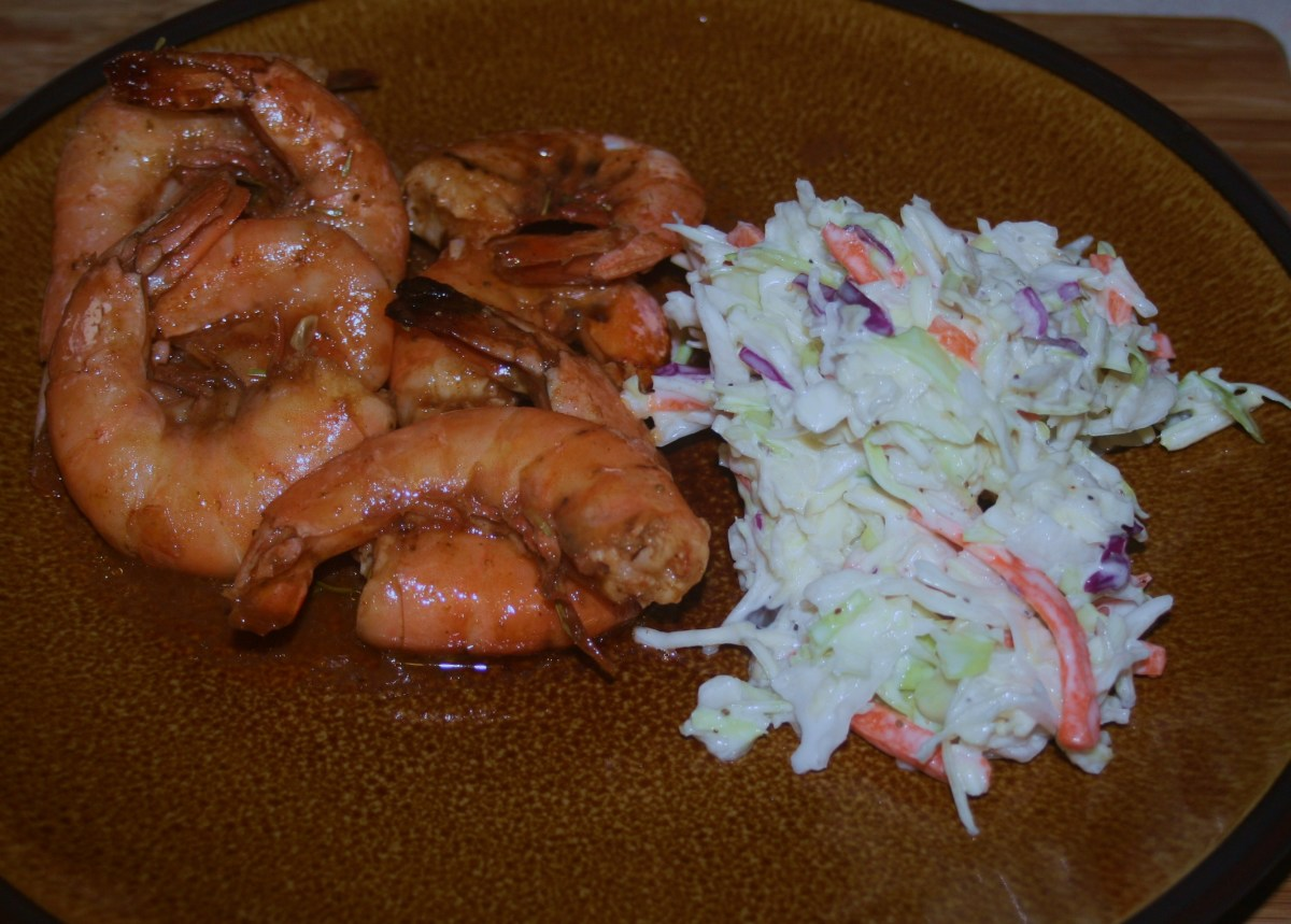 Shrimp bake & cole slaw--yum!