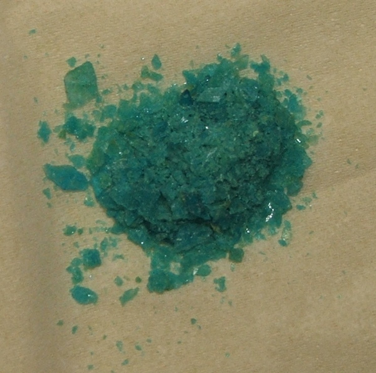 This copper sulfate is about 20 years old and just about a perfect color match to my blue garlic.
