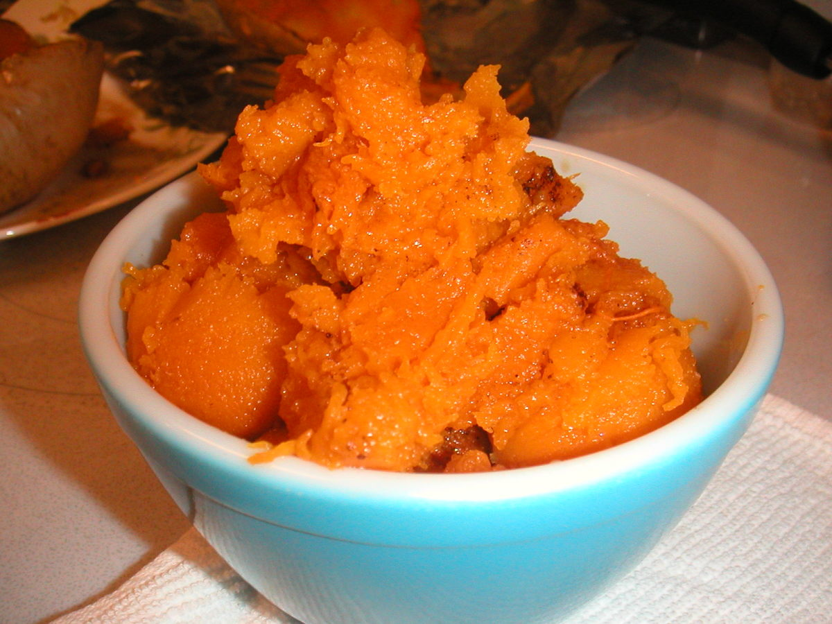 Fresh baked Butternut or Winter Squash is delicious served warm as a side dish.