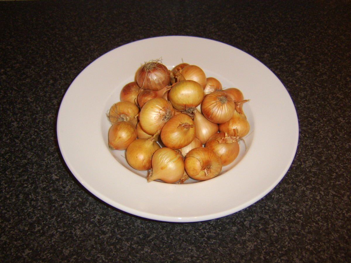 These small onions are perfect for making homemade pickled onions.