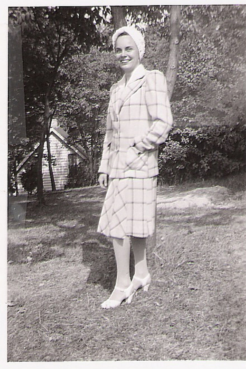 My aunt as a young lady at Okauchee lake.