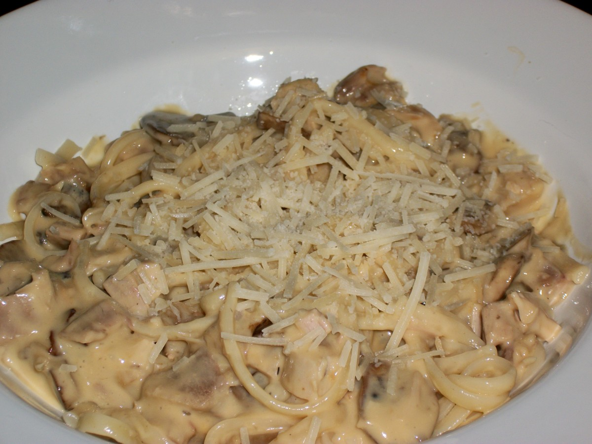 Quick and easy Turkey Tetrazzini made with leftover turkey, fresh mushrooms, onions and cream soup