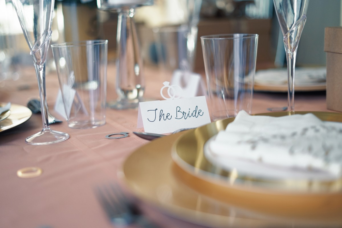 Use place cards as part of your place setting to add fun and if you want your guests seated in a special place.