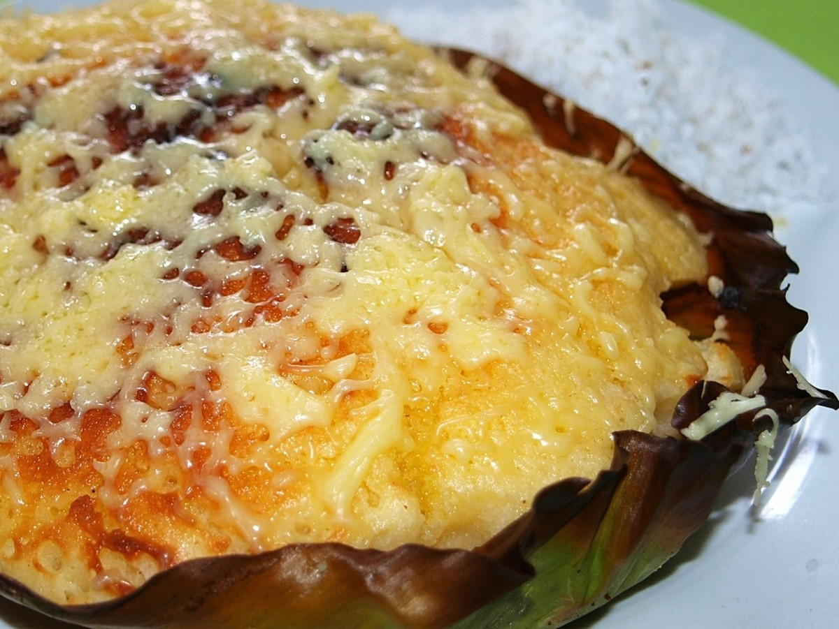 Bibingka with Butter and Grated Coconut Meat