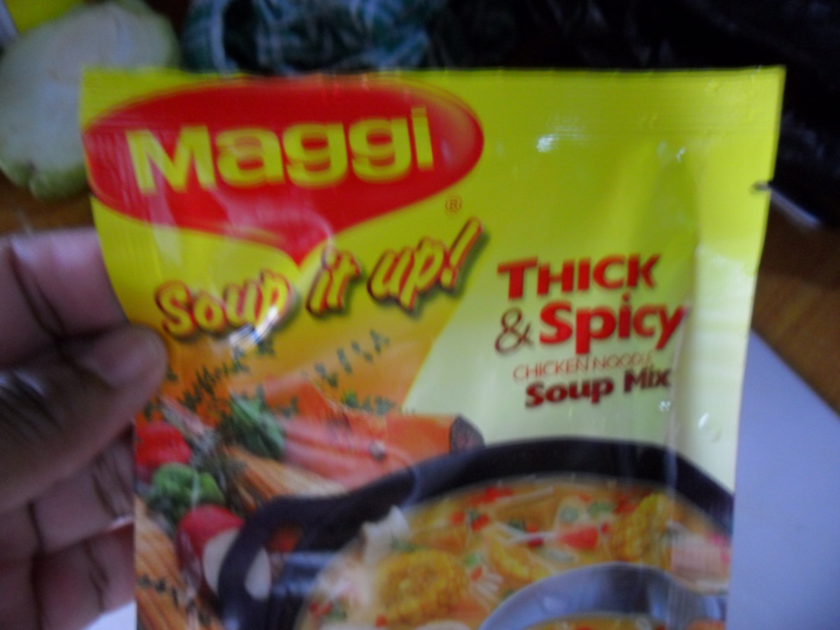 The soup packet.