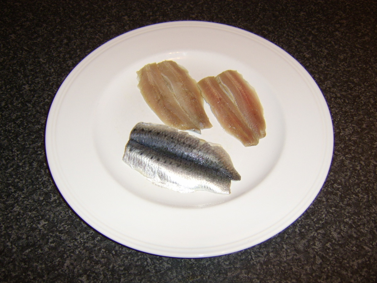 These sardines have been butterfly filleted