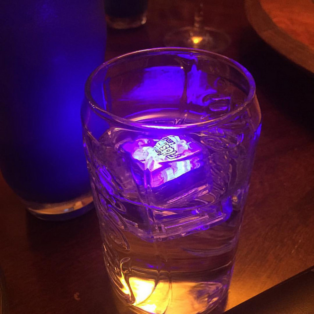 LED ice cubes are an easy way to light up your party.