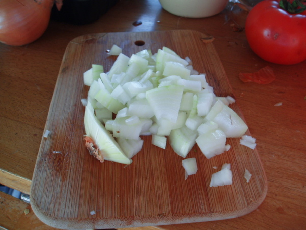 then chop across the onion and make chopping really easy