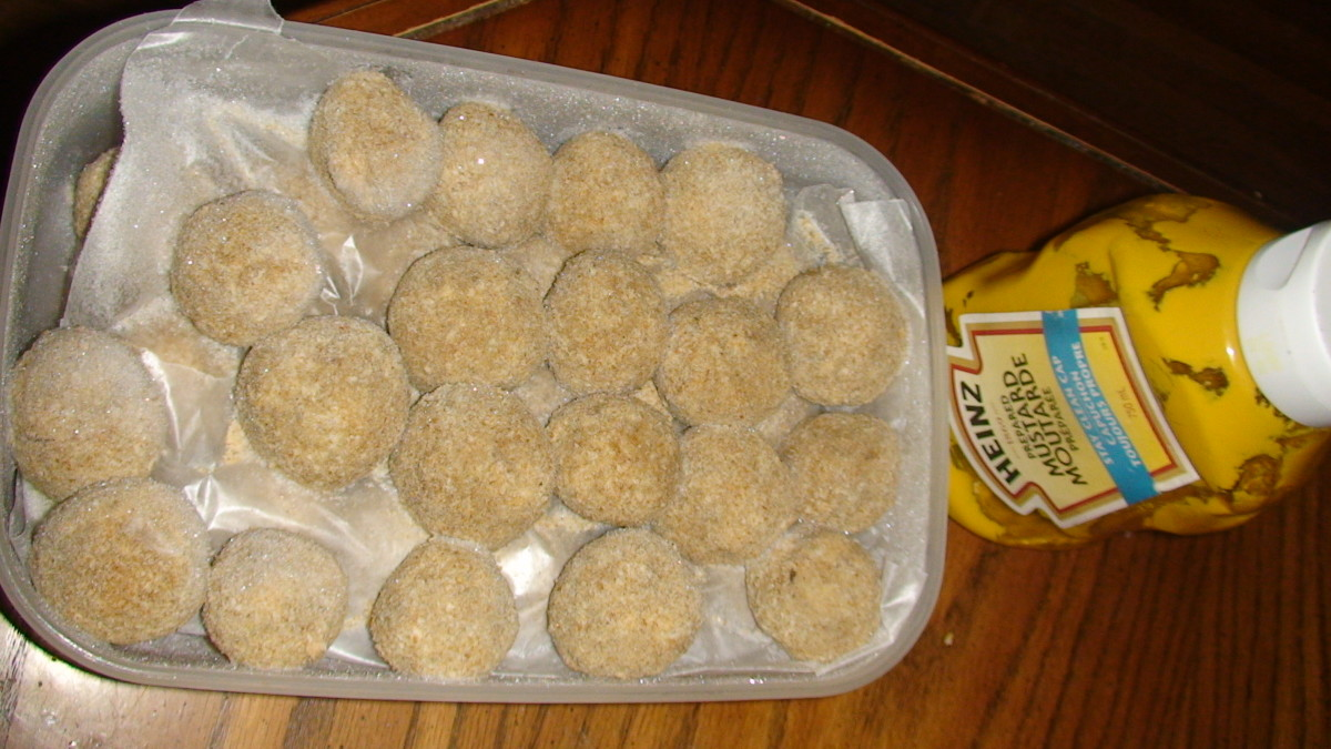 Frozen croquettes ready for deep-frying!