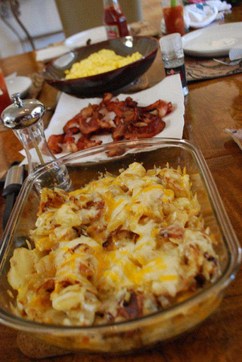 Cheesy Hash Browns with Bacon