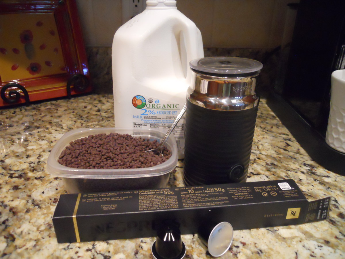 The ingredients for a perfect cafe mocha