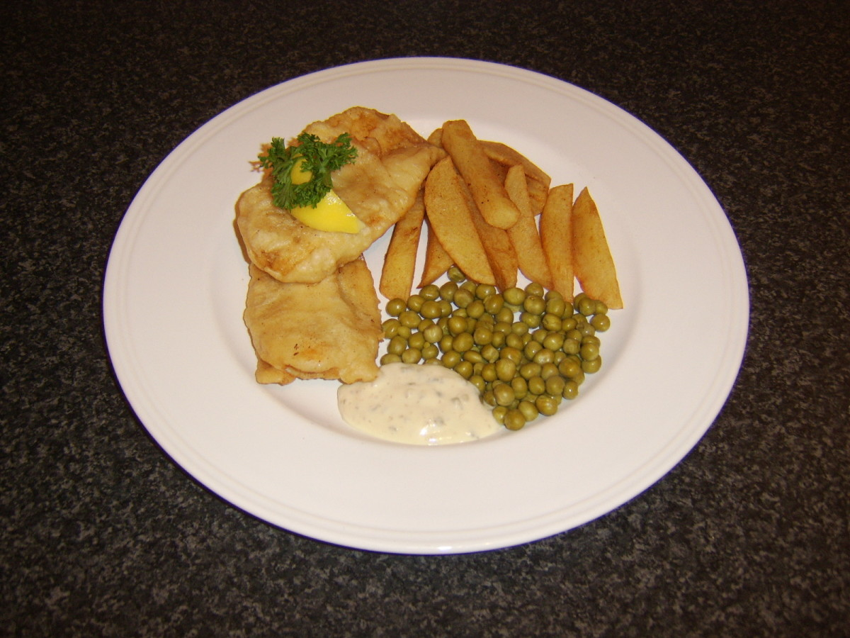 Fish is considered lucky to eat at New Year, as are peas.